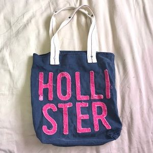 Hollister beach tote bag
